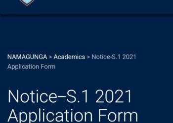 St. Mary's College Namagunga has started online admission of Senior One students (PHOTO /Courtesy)