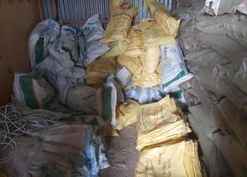 Some of the sugar sacks for exchange (PHOTO/Police).