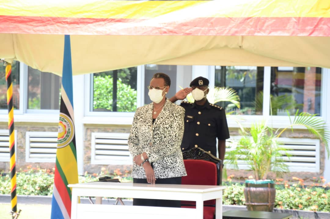 Education Minister Janet Museveni released the 2020 UCE Examination Results (PHOTO /Courtesy)