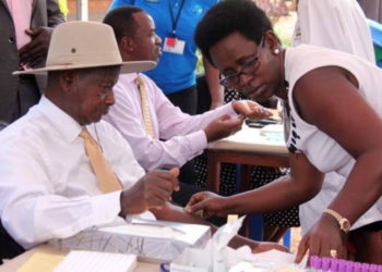 President Museveni and his Health Ministry PS, Dr Diana Atwine respectively (PHOTO/File).
