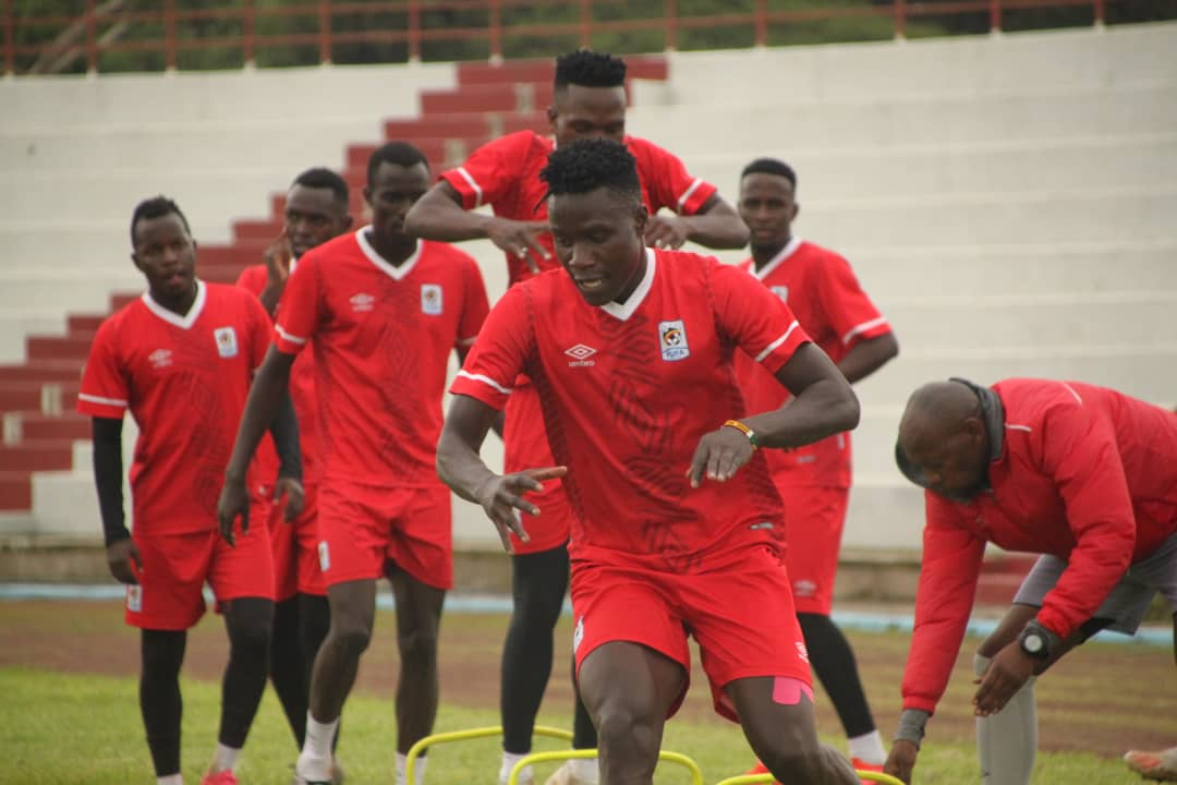Kobs during their first training session on Thursday. (PHOTO/FUFA)
