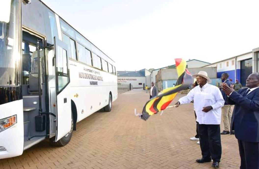 President Yoweri Museveni launches the 67-seater Metu Zhong Tong buses assembled in Uganda (PHOTO/File)