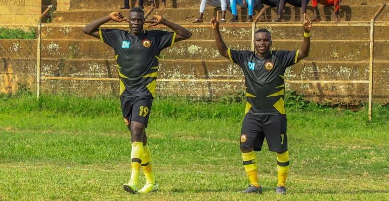 Alfred Leku (L) has been at Arua Hill SC since the start of last season. (PHOTO/Courtesy)
