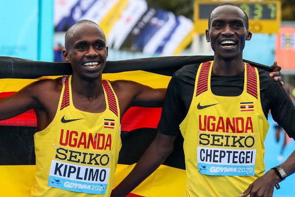 Kiplimo (L) and Cheptegei (R) won Bronze and Silver respectively. (PHOTO/Courtesy)