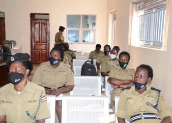 Some of the officers during the workshop at Police Headquarters in Naguru, Kampala (PHOTO/Courtesy).
