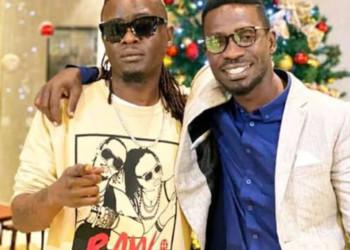 Ugandan artistes, Weasel and Bobi Wine respectively (PHOTO/Courtesy).