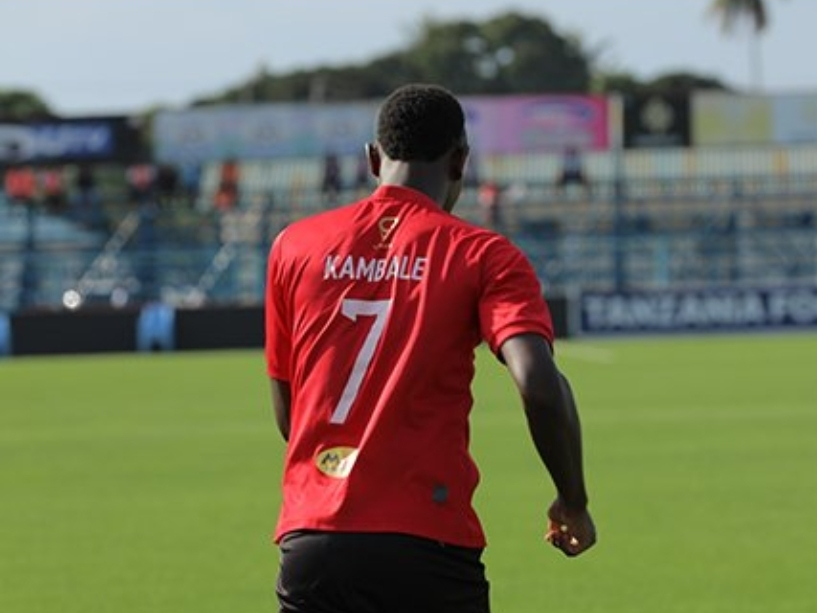 Eric Kambale after scoring the winning goal on Monday. (PHOTO/Express Media)